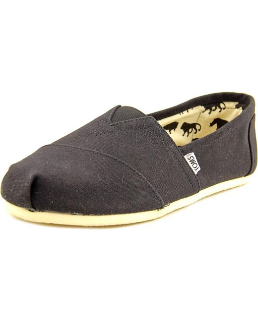 TOMS | Black Classics Round Toe Canvas Loafer for Men | Lyst