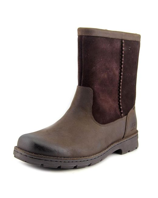 Ugg | Brown Foerster Round Toe Suede Snow Boot for Men | Lyst