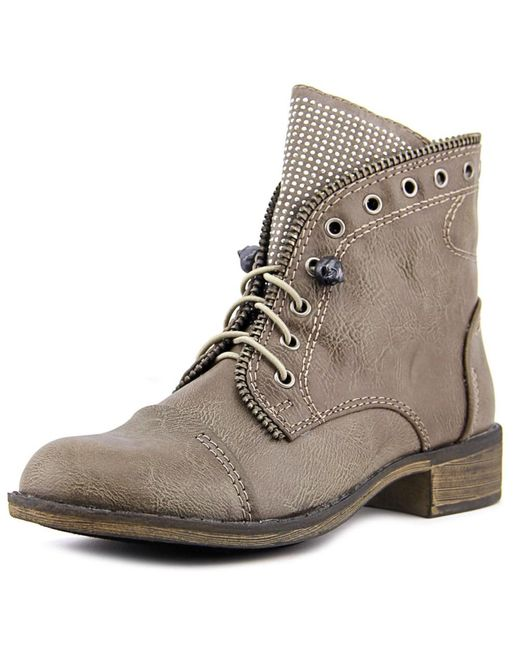 Report | Gray Nyles Round Toe Leather Ankle Boot | Lyst