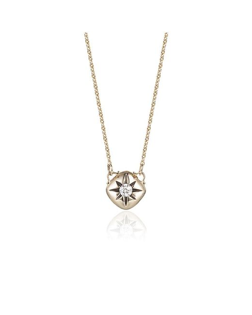 Jewelista | Diamond Cushion Necklace In 14k Yellow Gold (0.10cts, H-i I1) | Lyst