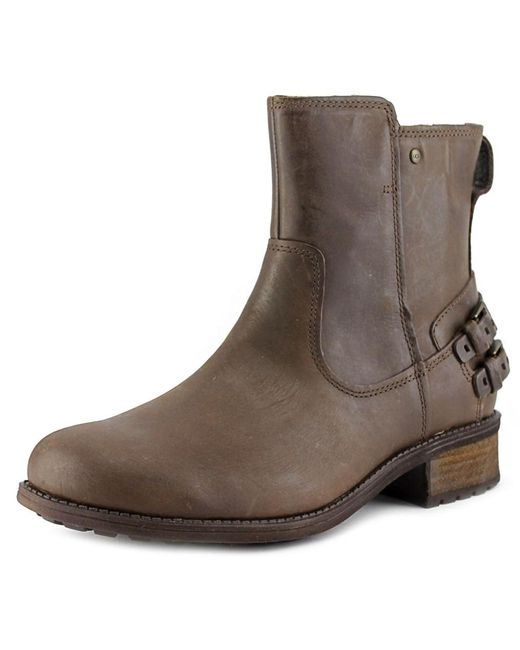 UGG | Brown Orion Back Strap Boots | Lyst