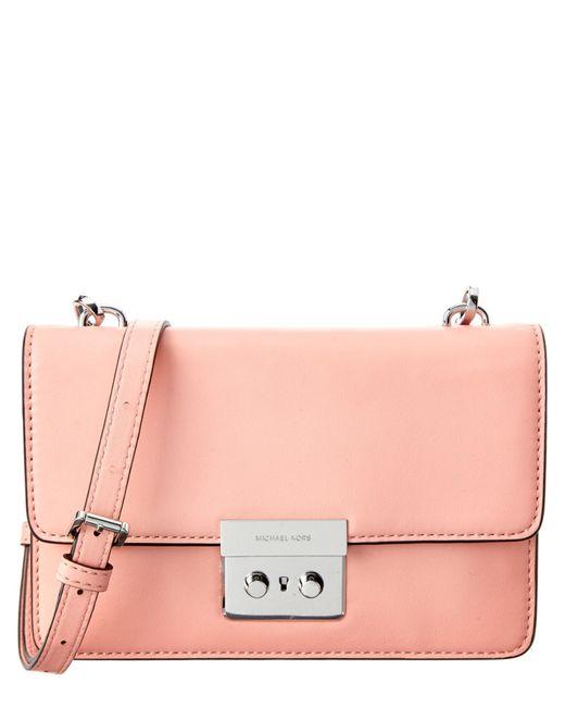 MICHAEL Michael Kors | Pink Selma Medium Saffiano Messenger Bag | Lyst