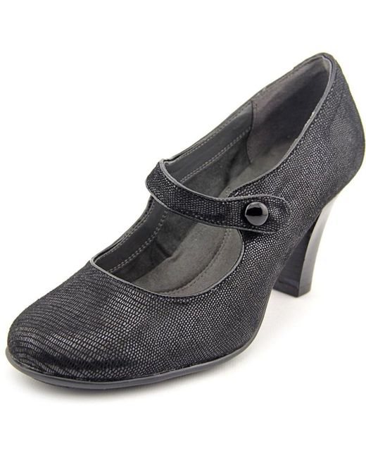 Aerosoles | Role Through Women Round Toe Synthetic Black Mary Janes | Lyst