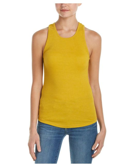 Free People | Yellow High Neck Muscle Tank | Lyst
