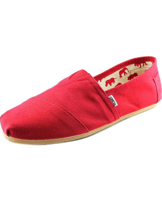 TOMS | Red Classic Canvas for Men | Lyst