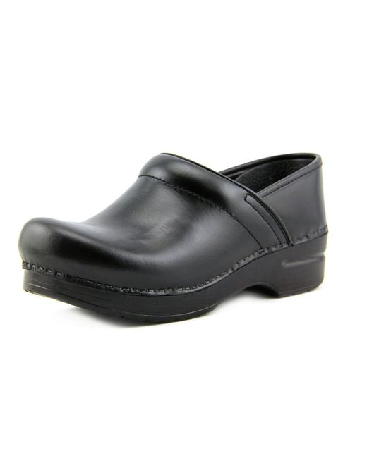 Dansko | Black Professional Box Round Toe Leather Clogs | Lyst