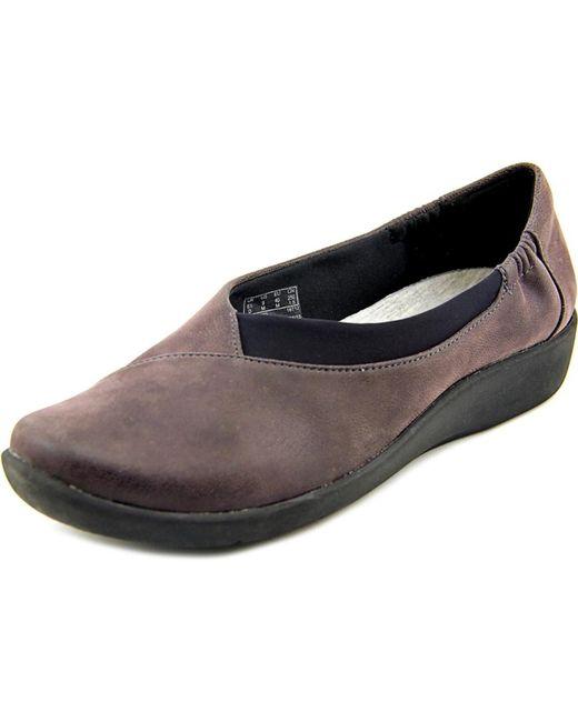 Clarks | Sillian Jetay Women Round Toe Synthetic Purple Loafer | Lyst