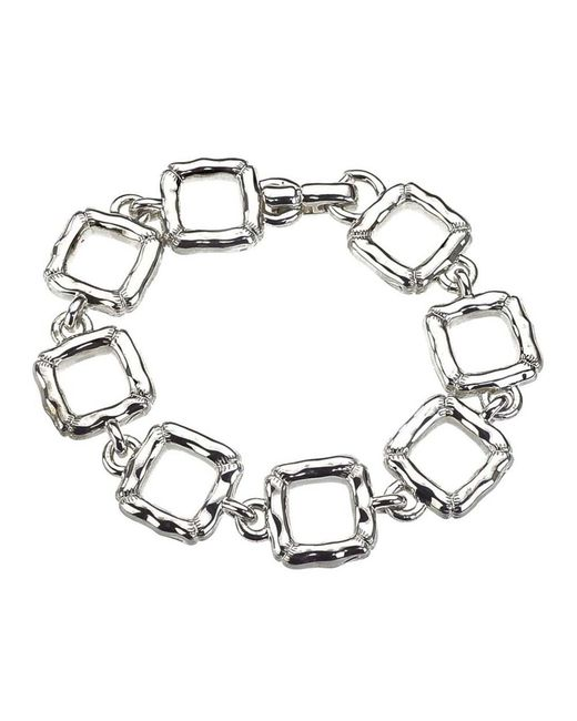 Jewelista - White Sterling Silver Slim Quilted Bracelet for Men - Lyst