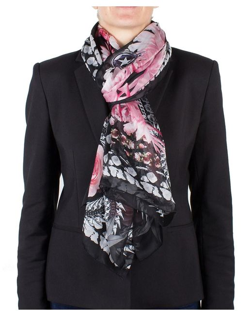 Givenchy | Black Women's Chain Border Floral Pattern Silk Scarf Large | Lyst