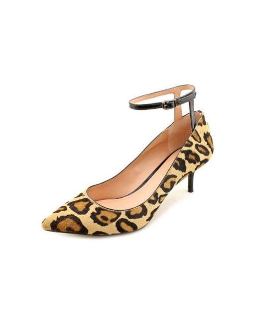 Enzo Angiolini   Brown Galata Ankle Strap Pump Heels - Natural Multi Black   Lyst