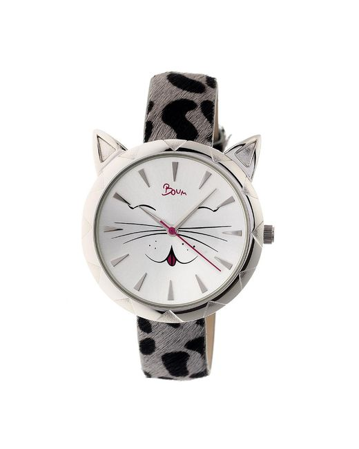 Boum - Black Miaou Cat-accent Leather-band Watch - Lyst