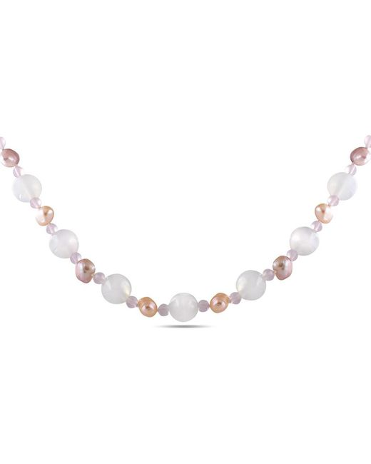 Catherine Malandrino | Multicolor Freshwater Cultured Pearl And Gem Bead Necklace | Lyst