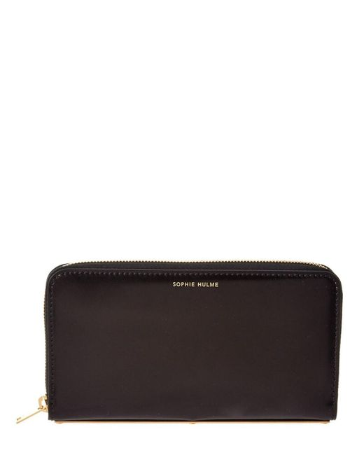 Sophie Hulme | Black Rosebery Leather Continental Wallet | Lyst