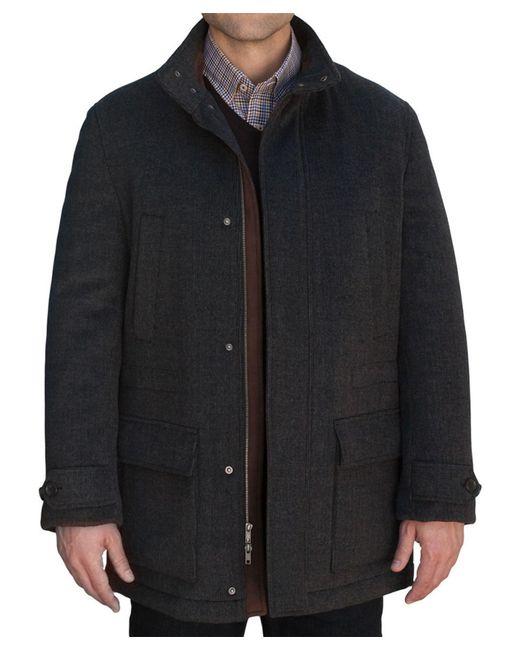 robert talbott shasta car coat in black for men lyst. Black Bedroom Furniture Sets. Home Design Ideas
