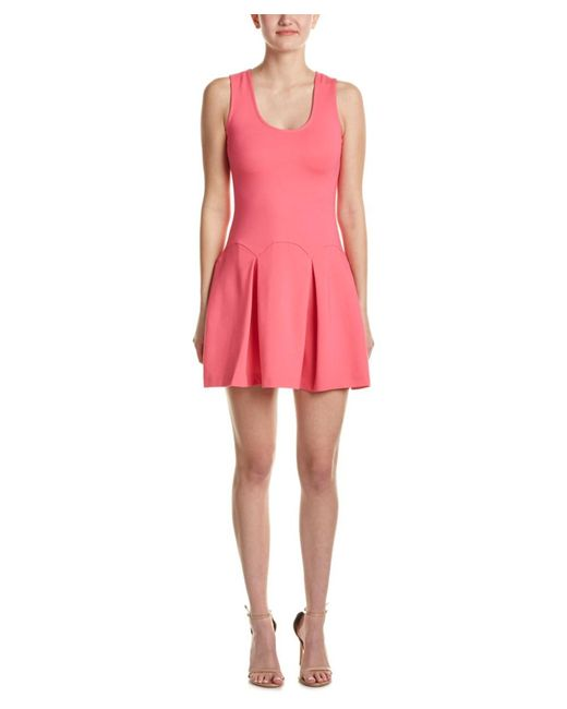 Parker | Pink Pleated A-line Dress | Lyst