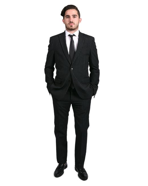 Versace Collection Men's Pinstripe Two-piece Viscose Suit
