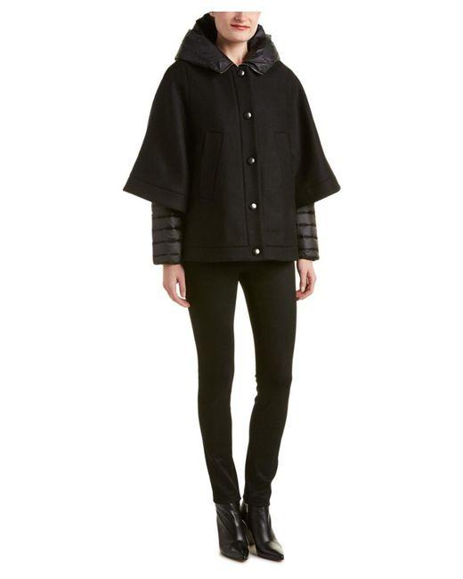 Moncler | Black Eudore Short Cape Jacket | Lyst