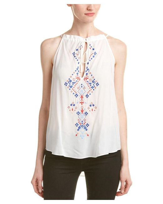 Parker | White Copan Embroidered Top | Lyst
