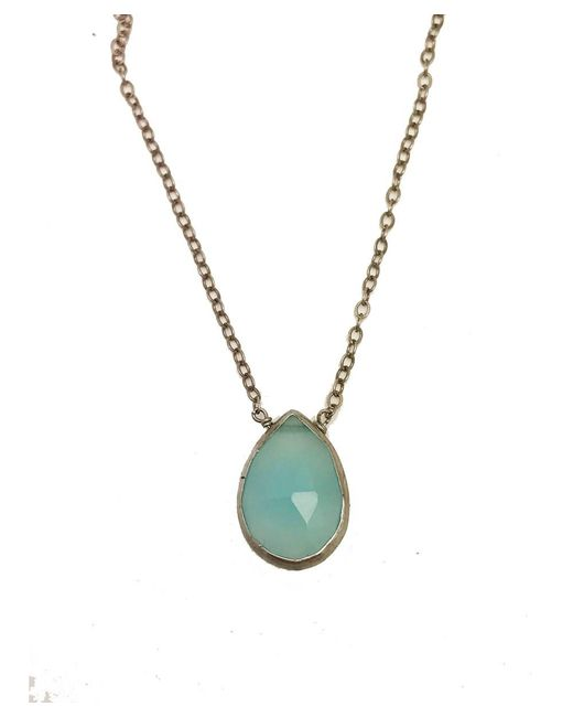 Blue Candy Jewelry | Sweet Tart Silver Blue Chalcedony Necklace | Lyst