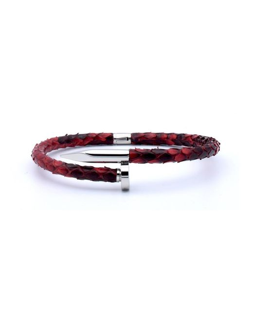 Double Bone | Nail Silver/ Red Python | Lyst