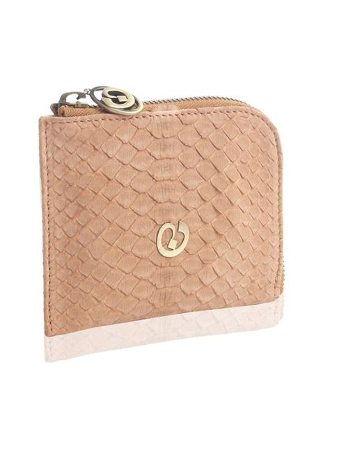 Nada Sawaya | Pink Medium Zip Around Python Wallet | Lyst