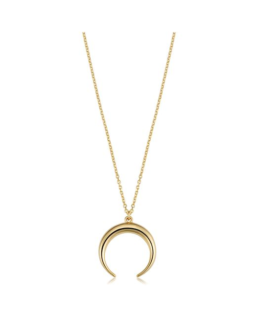"JewelryAffairs - Metallic 14k Yellow Gold Crescent Moon Pendant Necklace, 18"" - Lyst"