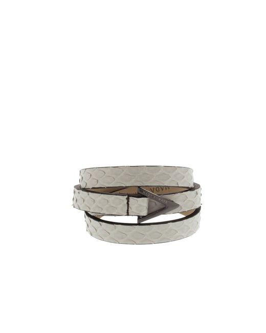 Nada Sawaya | White Wrap Me - 3 Rows Python Wrap Bracelet | Lyst