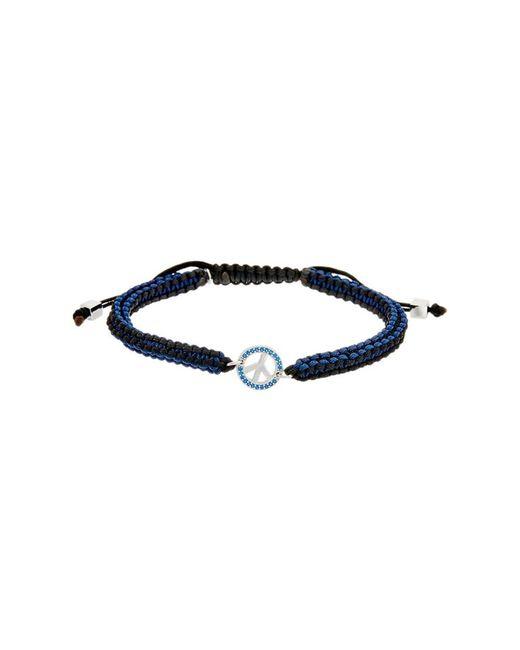 Tateossian   Blue Silver Spinel Adjustable Bracelet   Lyst