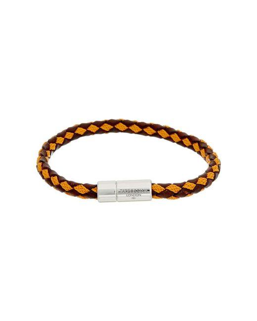 Tateossian | Metallic Silver & Leather Bracelet for Men | Lyst