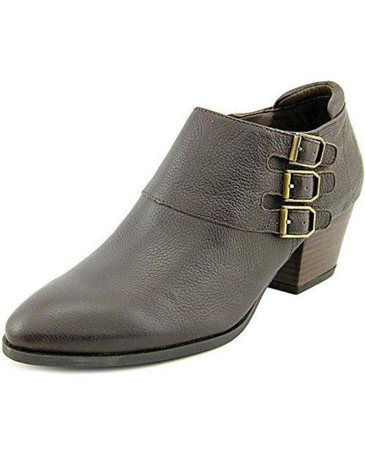 Franco Sarto   Brown Genna Round Toe Leather Bootie   Lyst