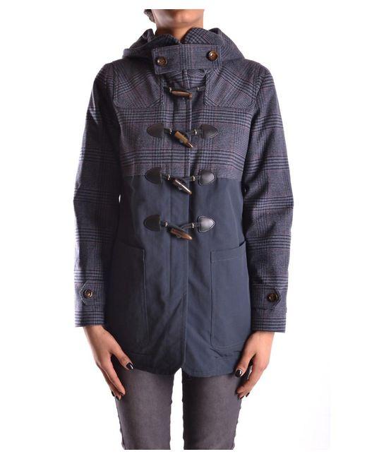 Peuterey | Blue Women's Multicolor Polyamide Coat | Lyst