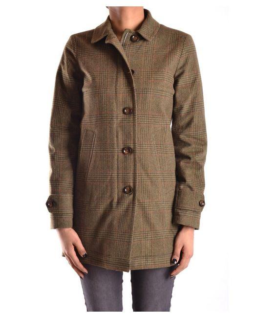 Peuterey   Women's Green Polyamide Coat   Lyst
