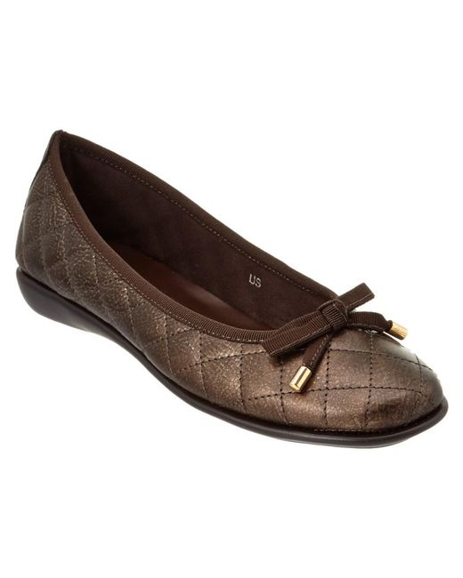 The Flexx | Brown The Bon Gout Leather Flat | Lyst