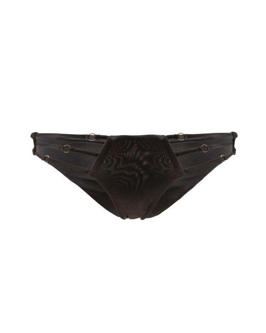 Beach Bunny | Black Bresilian Bikini Bottom Multistraps Bunny Basic Black | Lyst