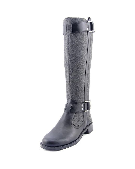 Aerosoles | Gray Ride Line W Round Toe Canvas Knee High Boot | Lyst