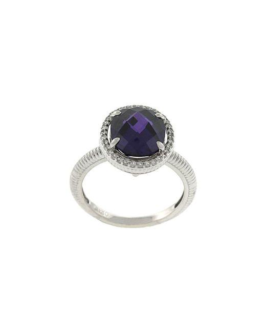 Judith Ripka | Metallic Legacy Silver 8.57 Ct. Tw. Purple Gemstone & White Sapphire Ring | Lyst