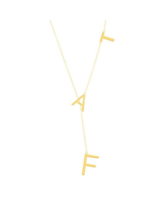 Adornia - Yellow Gold Vermeil Fat Lariat Necklace - Lyst