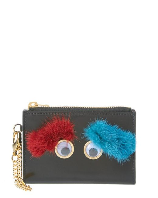 Sophie Hulme | Red Mini Ernie Eyebrows Leather Wallet | Lyst