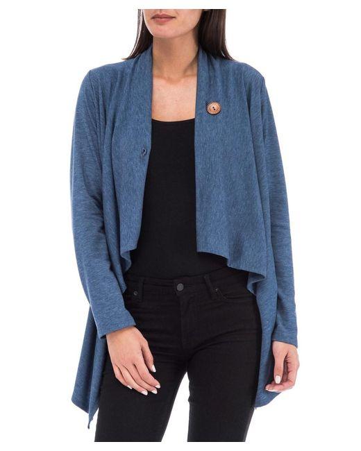 Bobeau - Blue Women¿s One Button Wrap Cardigan Comfy, Cute & Stretchable Sweater - Lyst