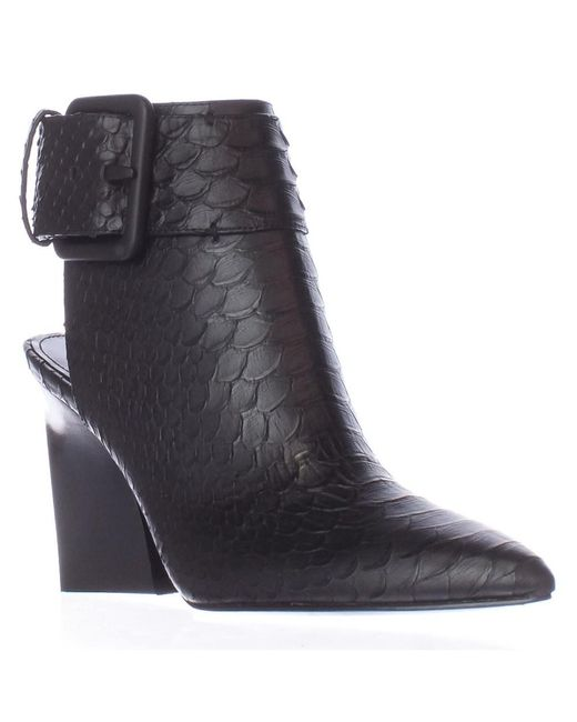 Sigerson Morrison - Ice2 Pointed Toe Aklne Strap Boots - Nero/black - Lyst