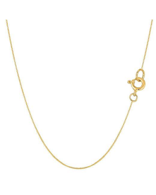 JewelryAffairs - 14k Yellow Gold Classic Mirror Box Chain Necklace, 0.45mm, 24 Inch - Lyst