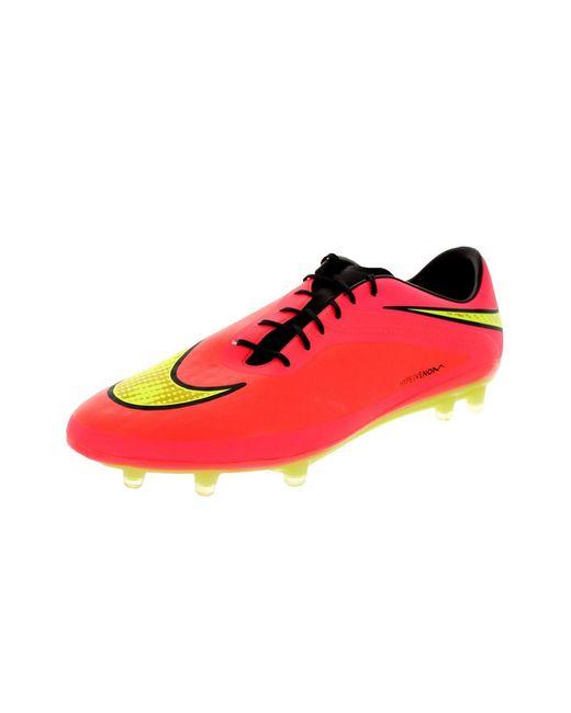 2a5208eb692 inexpensive nike red mens hypervenom phatal fg soccer cleat for men 8f9e9  ed42d