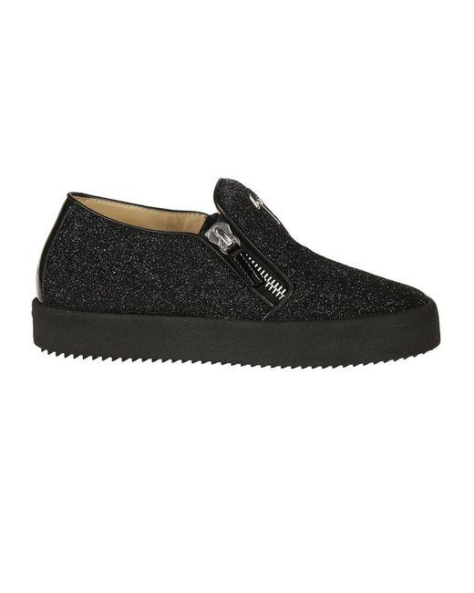Giuseppe Zanotti - Design Women's Rw70008 Black Leather Sneakers - Lyst