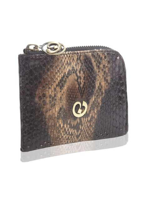 Nada Sawaya - Black Medium Zip Around Python Wallet - Lyst