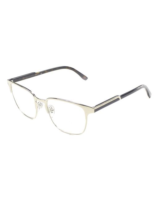 Stella McCartney - Metallic Round Metal Eyeglasses - Lyst
