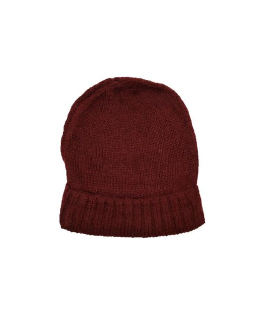 9edf145849b Lyst - Dibi Burgundy Knit Beanie in Purple for Men