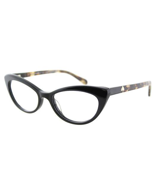 Kate Spade - Black Cat-eye Plastic Eyeglasses - Lyst