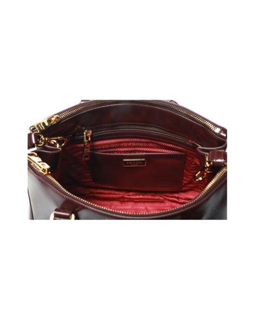 27eb5bb8a7 ... Prada - Red Leather Handbag - Lyst