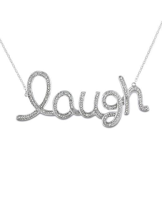 Catherine Malandrino - Metallic 1/10 Ct Tw Diamond Laugh Necklace - Lyst