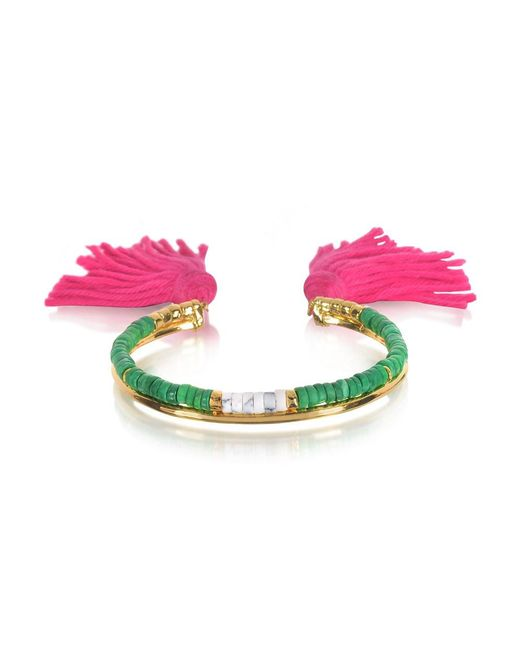 Aurelie Bidermann - Pink Women's Multicolor Metal Bracelet - Lyst